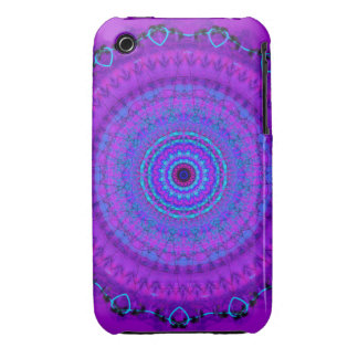 Purple Psyche Mandala kaleidoscope iPhone 3gs case