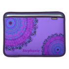 Purple Psyche Mandala name Macbook Air sleeve