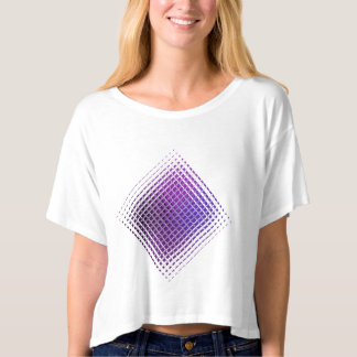 Purple Psychedelic glass tile design T-shirts