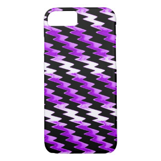 Purple Psychedelic Lightning Pattern iPhone 7 Case