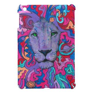 Purple Psychedelic Lion iPad Mini Cover