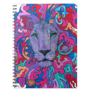Purple Psychedelic Lion Notebook