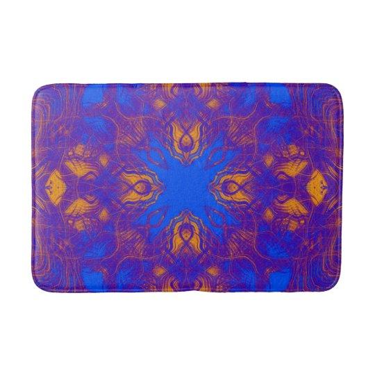 Purple psychedelic pattern bathroom mat