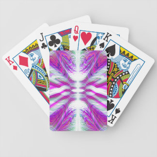 Purple psychedelic pattern bicycle playing cards