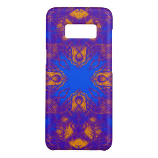 Purple psychedelic pattern Case-Mate samsung galaxy s8 case
