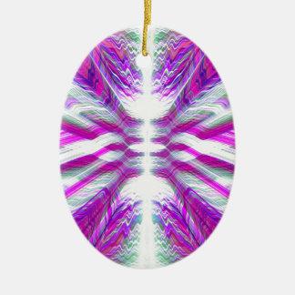 Purple psychedelic pattern ceramic ornament