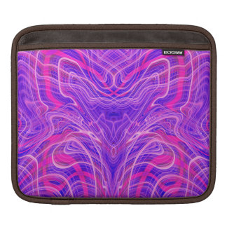Purple psychedelic pattern iPad sleeve