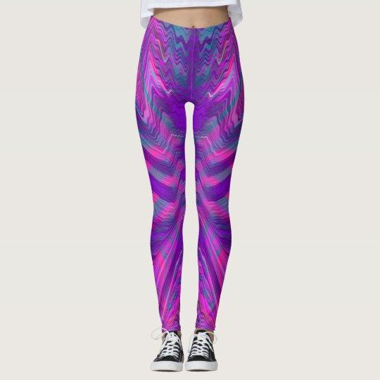 Purple psychedelic pattern leggings