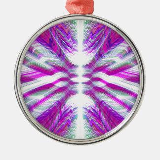 Purple psychedelic pattern metal ornament