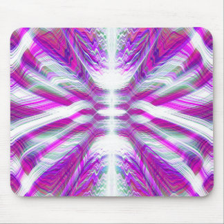 Purple psychedelic pattern mouse pad