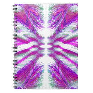 Purple psychedelic pattern notebooks