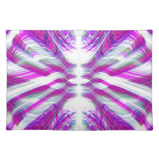 Purple psychedelic pattern placemat