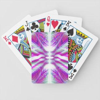 Purple psychedelic pattern poker deck