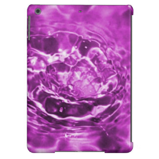 Purple Puddle Water Splash Graphic iPad Air Covers