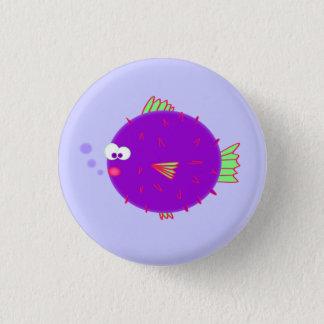 Purple Puffer Fish 1 Inch Round Button