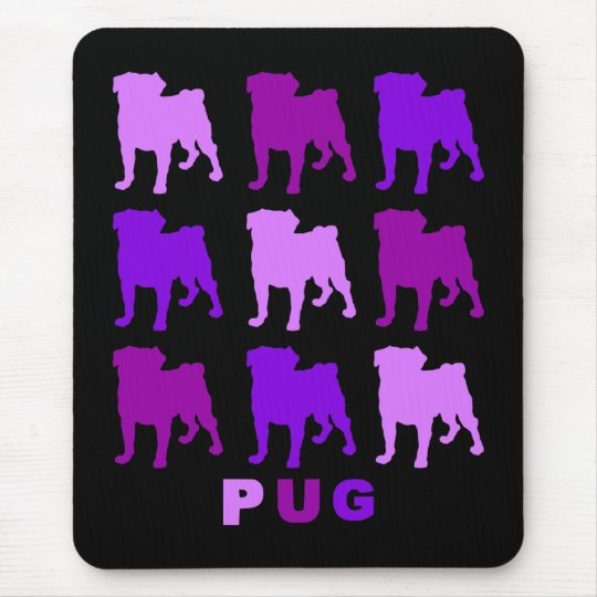Purple Pugs Mousepad