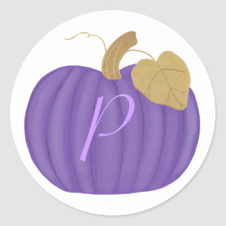 Purple Pumpkin Monogram Wedding Seals