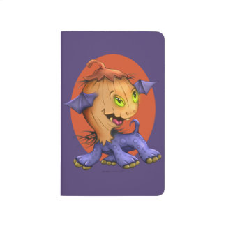 PURPLE PUMPKIN MONSTER CARTOON Pocket Journal