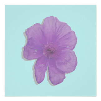 Purple Punch PopArt Flower Posters