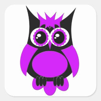 Purple Punk Owl Sticker