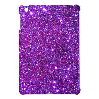 Purple Purple Sparkle Optical Illusion Art Case For The iPad Mini
