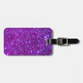 Purple Purple Sparkle Optical Illusion Art Luggage Tag