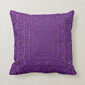 Purple Pyramid of Celtic Knots Pillow