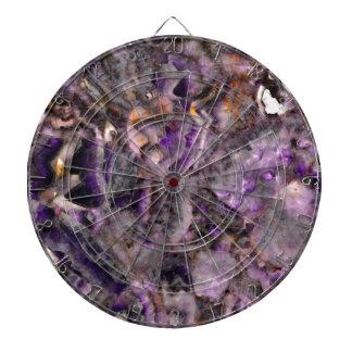 Purple quartz dart board