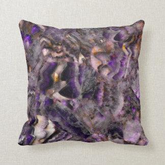 Purple Quartz Throw Pillow