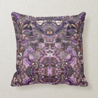 Purple Quartz Throw Pillow