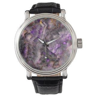 Purple Quartz Wrist Watch