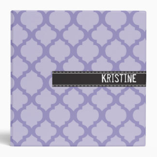 Purple quatre foil large binder