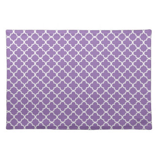 Purple Quatrefoil Clover Pattern Placemat