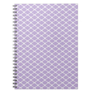 Purple Quatrefoil Notebook