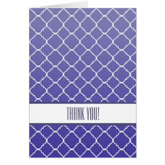 Purple Quatrefoil Thank You Card