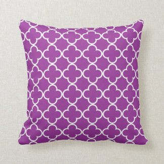 Purple Quatrefoil Throw Pillow