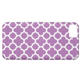 Purple Quatrefoil Trellis Pattern Case For iPhone 5C