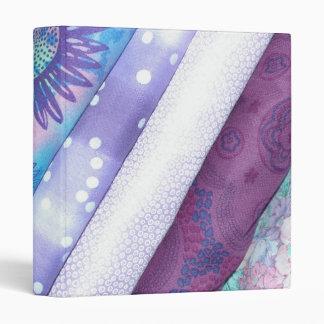 Purple Quilt Fabric Avery Binder