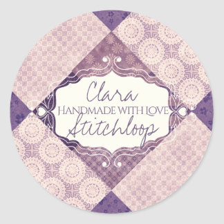 Purple quilt handmade with love quilting sticker