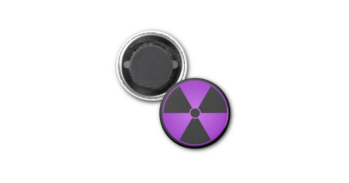 Purple Radiation Symbol 1 Inch Round Magnet | Zazzle