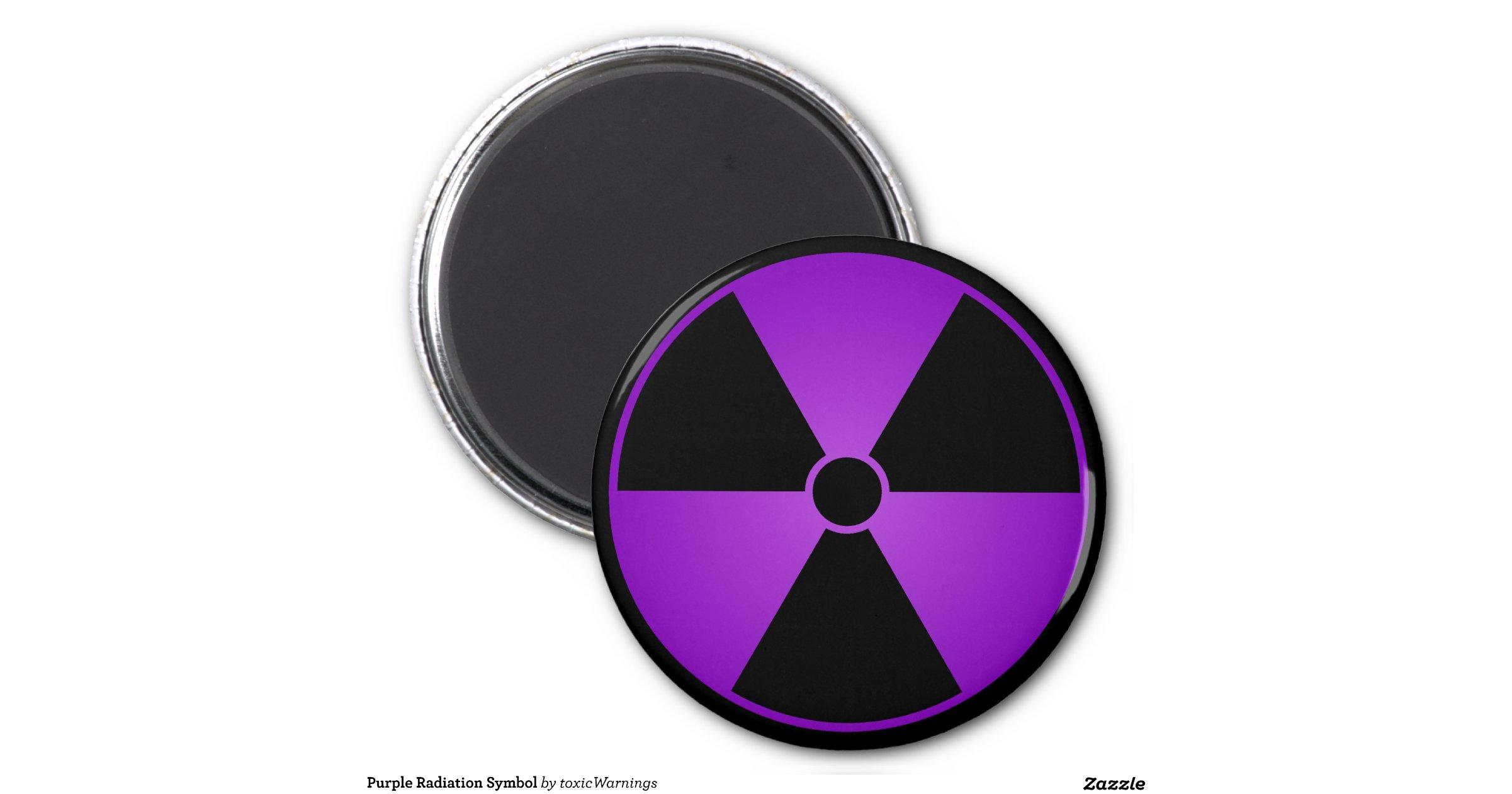 Purple Radiation Symbol 2 Inch Round Magnet | Zazzle