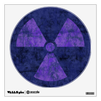 Purple Radiation Symbol Wall Sticker