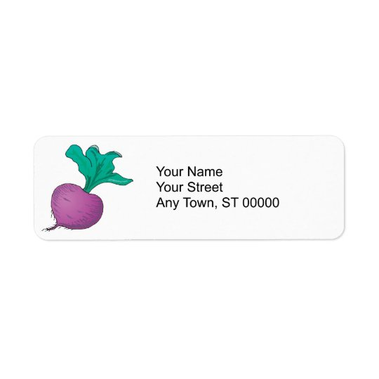 purple radish return address label