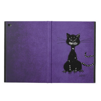 Purple Ragged Evil Black Cat