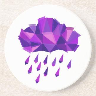 Purple Rain Contemporary Geometry Beverage Coasters