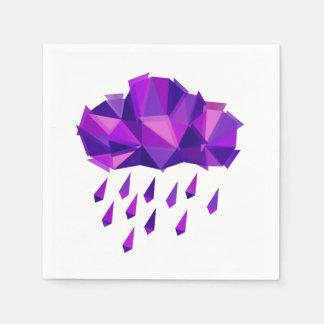 Purple Rain Contemporary Geometry Disposable Napkins