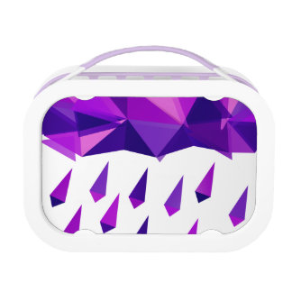 Purple Rain Contemporary Geometry Lunchboxes