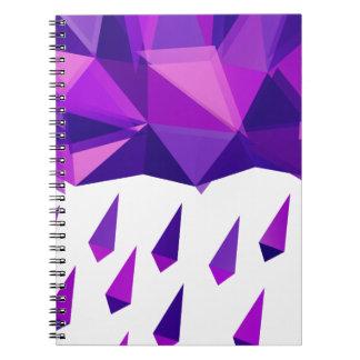Purple Rain Contemporary Geometry Spiral Notebook