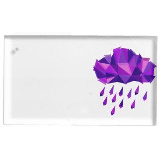 Purple Rain Contemporary Geometry Table Card Holder