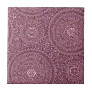 Purple Rain Drops Ceramic Tile